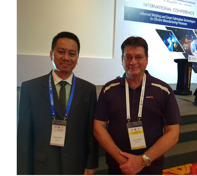 Ardian FANDIKA Metallurgy and Welding Specialist at TOTAL France with Neville Cornish at AWS